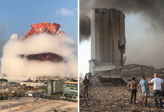 "Earlier today, two buildings at a seaport in <strong><a href=""https://gaming.ebaumsworld.com/articles/2-massive-explosion-rock-beirut-lebanon/86337755/"">Beirut, Lebanon</a></strong> exploded, resulting in a massive mushroom cloud and a shockwave that damaged the surrounding area. </br> </br> State-run media has theorized that one of the explosions may have come from a stockpile of fireworks in that building, which fits some videos showing what appears to be fireworks going off before the entire building collapses. </br> </br> However, the <strong><a href=""https://www.ebaumsworld.com/pictures/did-a-nuclear-bomb-go-off-in-beirut-no-probably-not/86337989/"">official cause</a></strong> of the explosions is not known at this time. </br> </br> These photos, taken from a mix of news sources and citizens present a picture of the <strong><a href=""https://gaming.ebaumsworld.com/videos/live-footage-on-the-ground-in-beirut-at-explosion-site/86337883/"">aftermath of the explosions</a></strong>. </br> </br> The surrounding area is littered in debris and small fires, and nearby buildings have had windows blown out and sustained some structural damage."