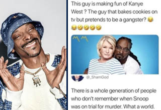 Snoop Dogg has been a pop culture icon for a long, long time, but some of these kids out here need to learn to put some respect on his name. <br></br>After a Twitter post by someone who was clearly born WAY too recently called out Snoop for criticizing Kanye, Tumblr went in on giving one of hip-hop's OG icons some well-deserved props.  <br></br>I mean, it's one thing to prefer Kanye's music over Snoop's, but to think that Snoop is LESS of a gangsta than freakin' KANYE? Sorry. No. GTFO.