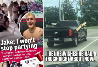 jake paul I won't stop partying - I bet he wishes he had a truck right about now