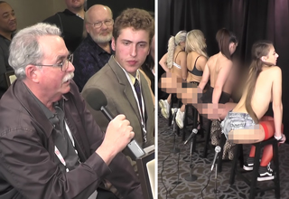 all gas no breaks old man asking pornstars about their butts
