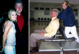 "Three new photos show <strong><a href=""https://www.ebaumsworld.com/pictures/every-known-photo-of-bill-clinton-with-child-sex-traffickers-ghislaine-maxwell-and-jeffrey-epstein/86325779/"">Bill Clinton</a></strong> receiving a neck massage from Chauntae Davies in 2002 while on a trip with Jeffrey Epstein to Africa. </br> </br> Davies, who was a massage therapist, was groomed by <strong><a href=""https://www.ebaumsworld.com/pictures/pictures-of-celebrities-with-ghislaine-maxwell/86311435/"">Ghislaine Maxwell</a></strong> and ended up being raped by Epstein for several years. </br> </br> People naturally assumed something untoward was happening in the new photos of her and Clinton, but Davies has said that nothing sexual was happening at all in the photos. She was simply giving him a massage as a trained therapist. </br> </br> Clinton probably isn't psyched that these photos are being released the same day he's set to speak at the Democratic National Convention, and while plenty claim this is clear evidence that Clinton engaged in rape and human trafficking, these particular photos may not actually be that <strong><a href=""https://www.ebaumsworld.com/pictures/36-hot-girls-wearing-yoga-pants0-that-will-make-your-day-better/85891443/"">juicy</a></strong>. </br> </br> For something a little more scandalous, <strong><a href=""https://www.ebaumsworld.com/videos/zacharias-holmes-attempts-something-way-out-of-his-skill-set/85197942/"">click here</a></strong>."