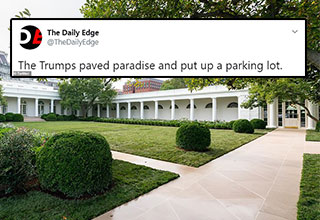 The White House just unveiled the newly remodeled Rose Garden and people are asking where are the roses?