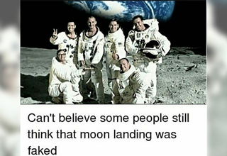 can't believe some people still think that moon landing was faked