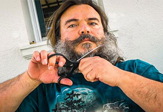 jack black cuts off all his hair in everything must go youtube video