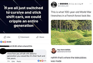 "<a href=""https://www.ebaumsworld.com/pictures/23-internet-comments-that-nailed-it/86044408/""><strong>Funny replies and savage comments</strong></a>  that really hit their mark. When going after an opponent online, it's bets to strike once and to strike true."