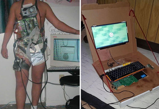 "Bragging about your <strong><a href=""https://gaming.ebaumsworld.com/articles/guy-stumbles-upon-grandfathers-secret-gaming-setup-in-his-garage/85643682/"">gaming setup</a></strong> (a.k.a. ""battle station"") is one of the worst trends in gaming today. It's a pointless pissing contest that wastes money. </br> </br> But the <strong><a href=""https://gaming.ebaumsworld.com/pictures/36-dank-memes-made-for-the-average-gamer/86333919/"">gamers</a></strong> here are proof that you don't need to spend a lot of dough just to get a killer setup. You could get those dubs and stay frosty with a pizza box and one piece of string. </br> </br> Scroll through for some daily inspiration and to probably make you feel better about your little <strong><a href=""https://gaming.ebaumsworld.com/articles/after-you-see-this-30000-gaming-pc-youll-need-100-to-replace-your-ruined-pants/85657171/"">gaming setup</a></strong> at home. </br> </br> Feel free to send us or post your own gaming setups, but only if they're at least as bootleg as any of these. Nothing over $10. </br> </br> For more laughable gaming content, <strong><a href=""https://gaming.ebaumsworld.com/gaming/"">click here</a></strong>."