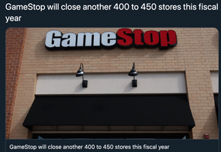 "While <strong><a href=""https://www.ebaumsworld.com/videos/woman-kicks-over-boxes-after-being-misgendered-at-gamestop/85847948/"">GameStop</a></strong> has been dealing with bankruptcy issues for a while now, they recently announced they will be closing 400 stores by the end of this year, as well as more in 2021. </br> </br> Like most large gaming institutions, GameStop has become an easy target for any and all gamers' frustrations. But they've also been guilty of some <strong><a href=""https://www.ebaumsworld.com/videos/setting-up-a-free-game-store-in-front-of-gamestop/86070457/"">unforgivable trespasses</a></strong>, and now their reckoning is upon them. </br> </br> If you've ever tried to trade in or sell a game to <strong><a href=""https://gaming.ebaumsworld.com/videos/professional-gaming-athlete-makes-a-fool-of-himself-in-gamestop/85526503/"">GameStop</a></strong>, or considered buying one of their mysteriously overpriced used games, you know the sting of being screwed over by a big box store. </br> </br> So with GameStop hurting more than ever, why don't we all take in some <strong><a href=""https://gaming.ebaumsworld.com/pictures/63-best-gaming-memes-that-were-definitely-saving-this-week/86217760/"">classic memes</a></strong> poking fun at the store that both helped a lot of gaming communities and took all their money. </br> </br> And to see the trade in value for this post, <strong><a href=""https://gaming.ebaumsworld.com/gaming/"">click here</a></strong>."