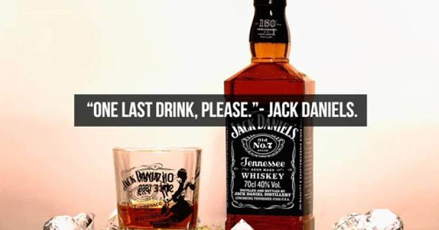 Whisky - 180 'One Last Drink, Please. Jack Daniels. Jala Danes 014 No.Z Tennessee On Adams adke ale Whiskey 70cl 40% Vol. Janck Amband Strert Back Baniel Bestillery Your