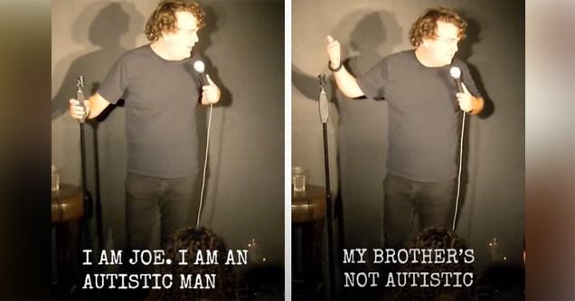 comedian joe wells talks about being autistic
