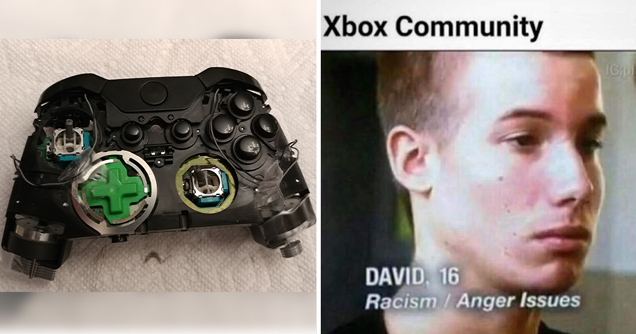 broken xbox controller - xbox community: david racism anger issues