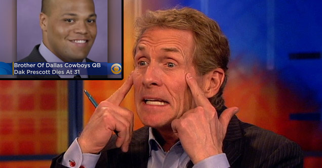 skip bayless making a crying motion