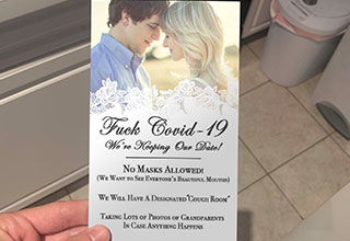 Yeah so it's just a fake shopped wedding invitation, but that doesn't mean it's not still funny.