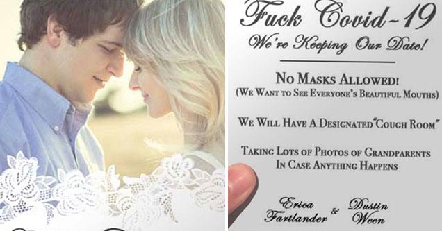 fake Fartlander and Ween wedding invitation is comedy gold