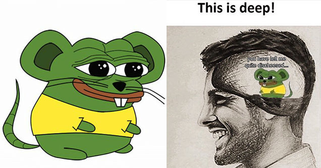 uhm, cheesed to meet you? Pepe the Frog mouse meme that has been growing in popularity explained