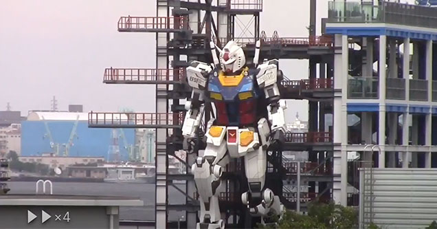 massive Japanese robot the Gundam has entered the testing stage