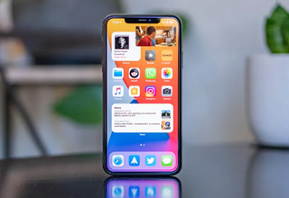 iOS 14 Home Screen Aesthetic Ideas on phone