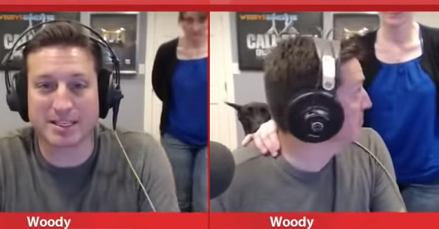 guy wearing headphones caught by wife talking smack about her chili