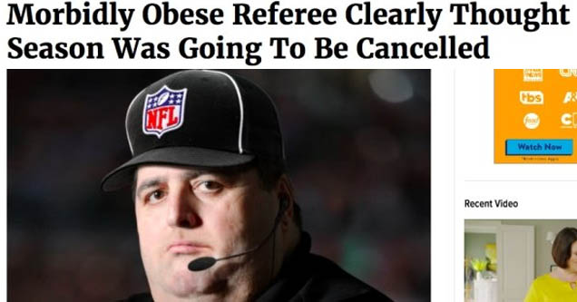 cap - Photo Finish Morbidly Obese Referee Clearly Thought Season Was Going To Be Cancelled 913Am See More Vol 56 Issue 36 Your Favorite Ve Cine Hbs Lfl food Cn Watch Now Recent Video rerincent 5 Things To Know About Lovec Onion News