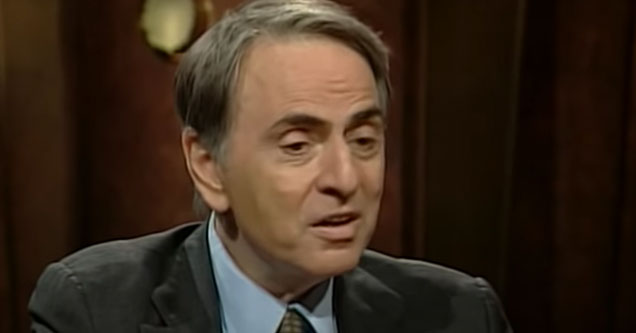 Carl Sagan talks about making science difficult for people