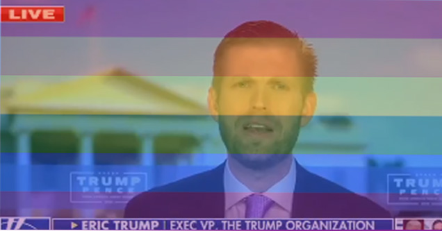 Eric Trump Comes Out As LGBT Community Member