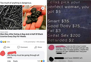 savage comments and clever replies - man dies after eating only licorice for weeks -  men you have 5 dollars to make the perfect woman