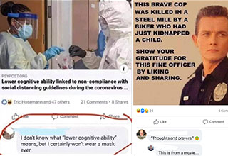 dumb jokes - people who don't wear masks have lower cognitive abilities - i dont know what that means but im never wearing a mask - this brave cop was killed in a steal factory