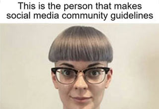 a funny meme girls bowlcut is the social media guideline maker