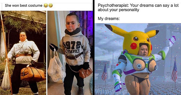 funny memes | world book day miss trunchbull - She won best costume 1978 Ympics | e norma stitz - Psychotherapist Your dreams can say a lot about your personality My dreams