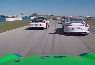 driver makes quick work of his competition when forced to start from the back of the race