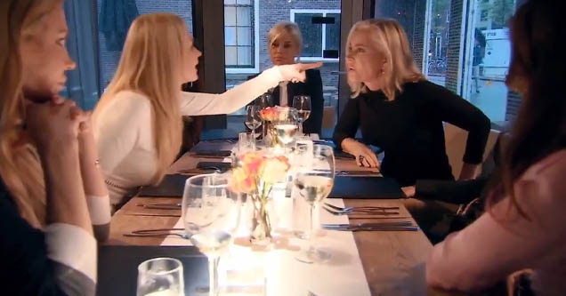 Restaurant fight on 'Real Housewives of Beverly Hills'