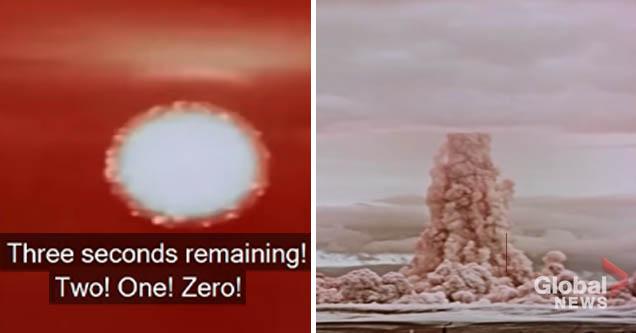 Stills from 'Tsar Bomba' test footage