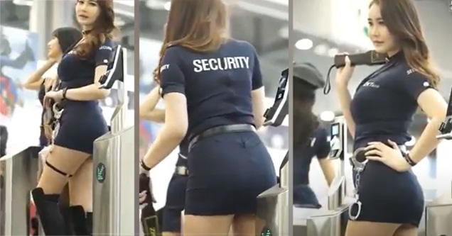 a hot security guard in bankoks airport