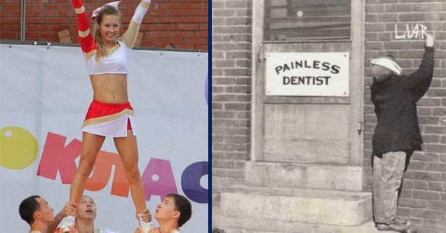 memes cheerleading - Kuas | painless dentist liar - Painless Dentist