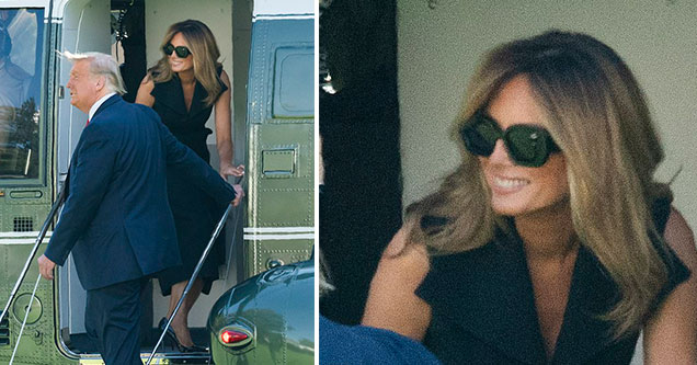Melania Trump body-double conspiracy theory pops back up after a strange looking picture of the first lady appears on Twitter