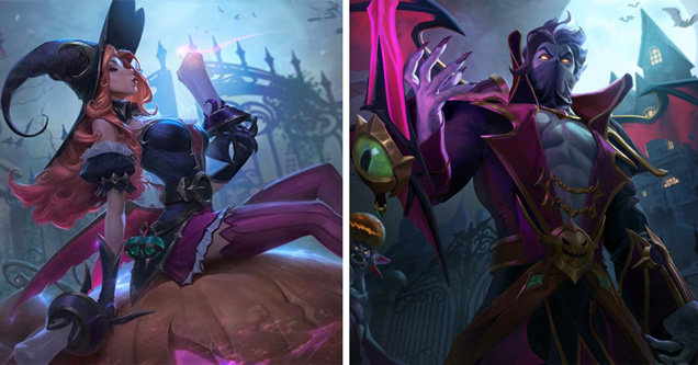 league of legends halloween skins video game