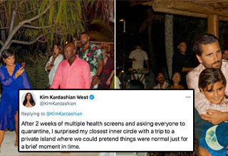 "Kim Kardashian has created a new <a href=""https://www.ebaumsworld.com/pictures/kim-kardashian-gets-memed-on-for-bragging-about-her-private-island-party-during-a-pandemic/86428318/""><strong>copy-pasta</strong></a> with her Twitter thread showing off how she booked a private getaway for her ""inner circle"" to try and act normal for a bit. You've probably seen some memes, but if you haven't here is the full Twitter thread."