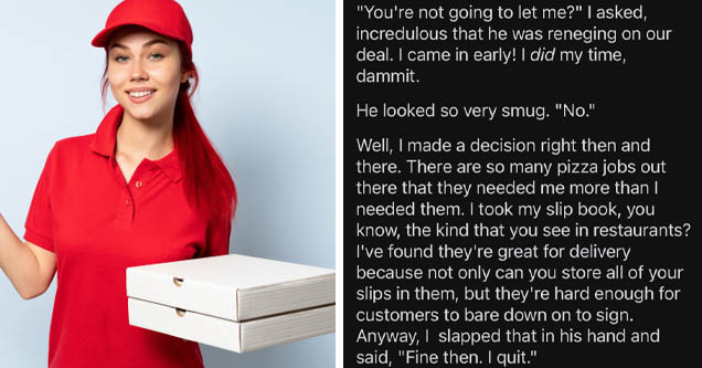 pizza girl - But the story doesn't end there. Oh no, you remember how I said Cait would confide in me? She loved to tell me all about how often she and Jeff would meet at a hotel after work. She even horrified me by telling me Jeff would turn off the came