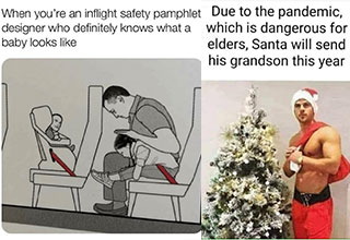 dank memes and pics -  when you don't know what a baby looks like -  santa is going to send his son this year for Christmas