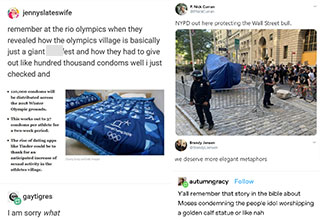funny posts from tumblr - we deserve better metaphors -  the sex olympics