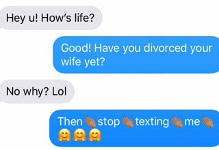"Texts like these are probably a big part of why they're an ex now. <br></br><strong><a href=""https://www.ebaumsworld.com/pictures/25-memes-about-break-ups-that-will-make-you-laugh/85700250/"" target=""_blank"">Breaking up</a></strong> is hard to do, but once you get past the initial jolt of it, it can actually be pretty amazing. A little distance really gives a LOT of clarity as to why you and that other person didn't work out. <br></br>I'm the type of person who moves on and doesn't look back, but these people's exes are clearly still holding onto hope that they really, really shouldn't have."