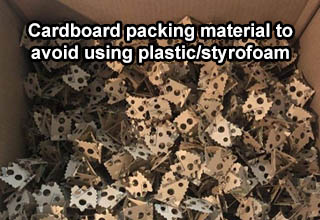 camouflage - Cardboard packing material to avoid using plastic/styrofoam