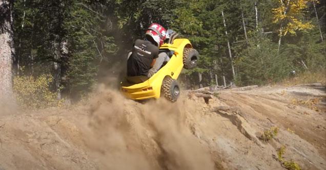 Силовые колеса Camaro срывается с дороги!