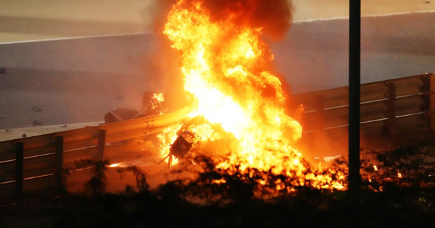 a fiery f1 crash where the driver lived