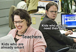 kids who are already smart -  teachers -  kids who actually need their help