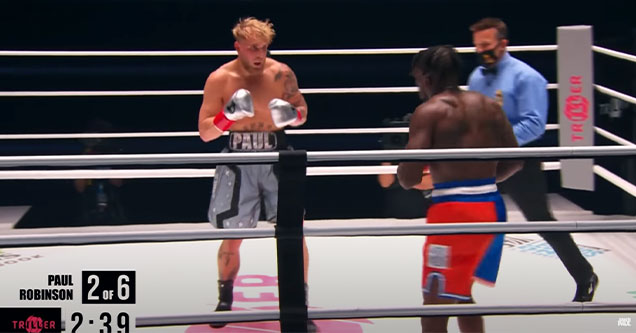 Jake Paul Knocks out Nate Robinson in the second round