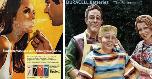 1960s cigarette ads - 13 Blow in her face and she'll you anywhere. Hit her with tangy Tipalet Cherry. Or rich, grape y Tipalet Burgundy. Or luscious Tipalet Blueberry. It's Wild! Tipalet. It's new. Different. Delicious in taste and in aroma. A puffin her