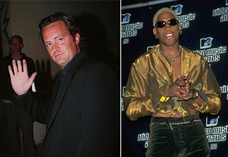 celebrity facts - matthew perry lost the tip of his finger in a car door - dennis rodman is one of 28 children
