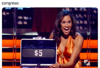 savage tweets - congress - 5 dollar case on deal or no deal