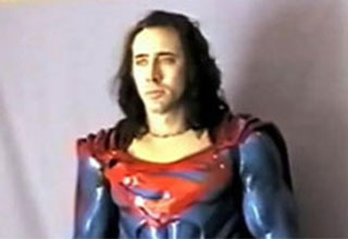 the time Nic Cage did a costume test with Tim Burton for Superman