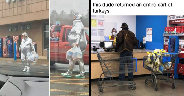 walmart turkey |supermarket - this dude returned an entire cart of turkeys Prest Is Hiring Af